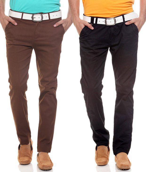 Fashion Brown Regular Casuals Chinos