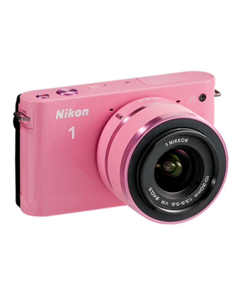 Nikon 1J1 with 10-30mm + 30-110mm Lens (Pink)