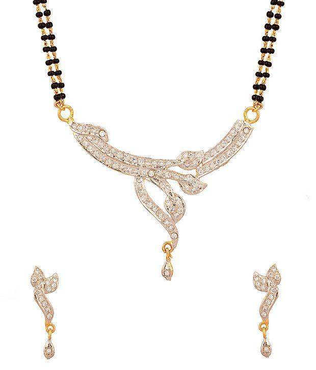 Voylla Double Chain Mangalsutra Set