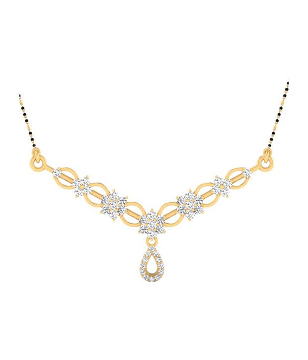 Forever Carat Real Diamond 0.84 ct Mangalsutra in 100% Certified 925 Sterling Silver
