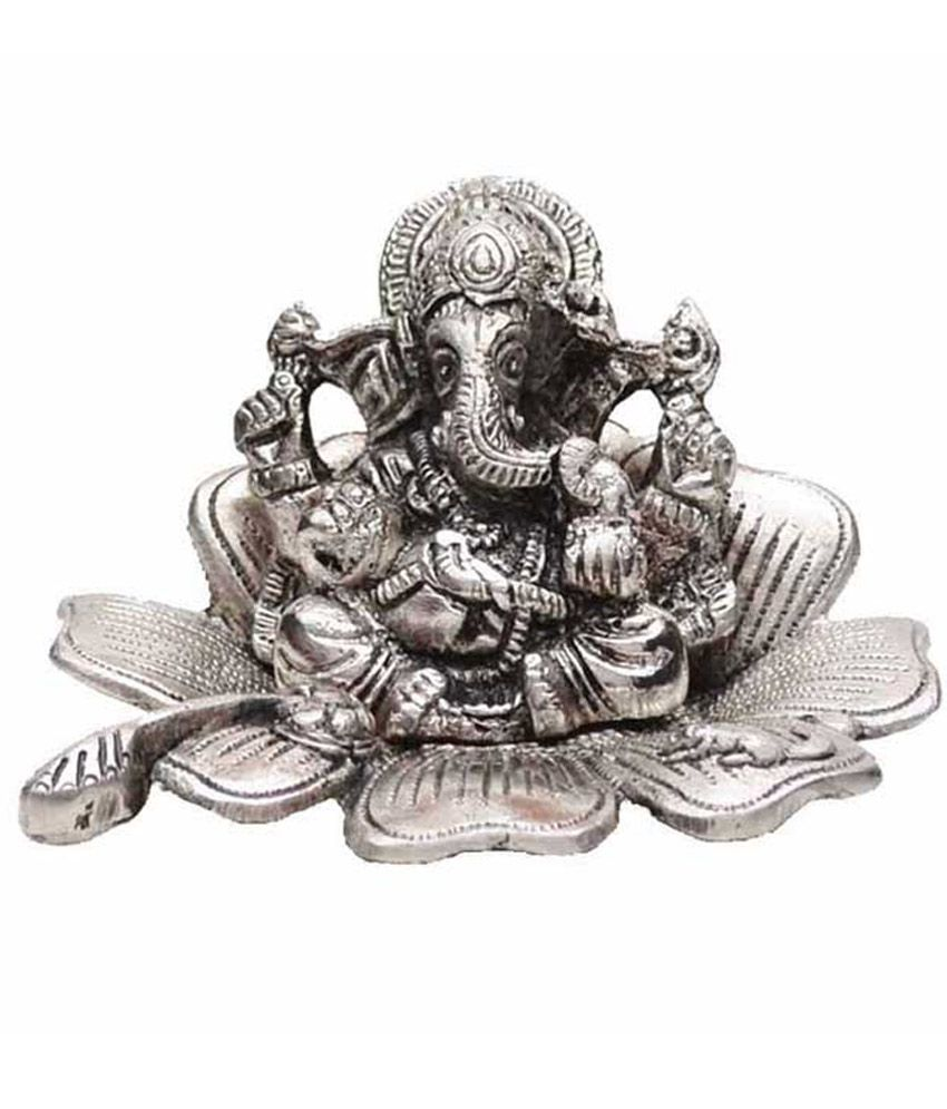 Indian Arts Shop Silver White Metal Ganesha Idol Buy Indian Arts