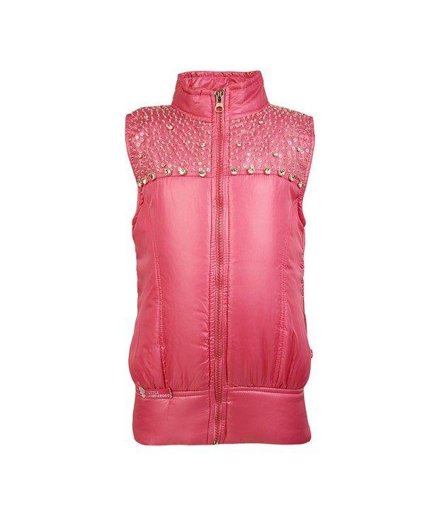 Little Kangaroos Pink Jackets & Blazer For Girls