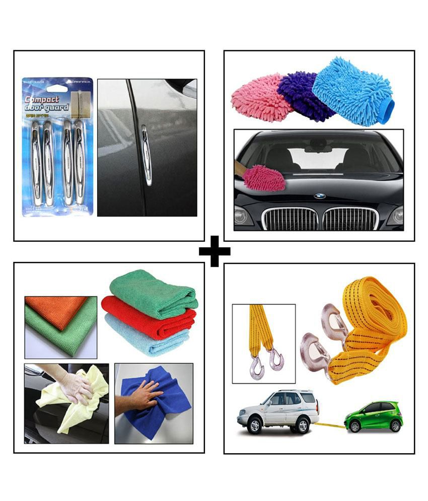 Microfiber Cloth Glove Price: Car Tow Cable + Microfiber Cloth + Microfiber Glove