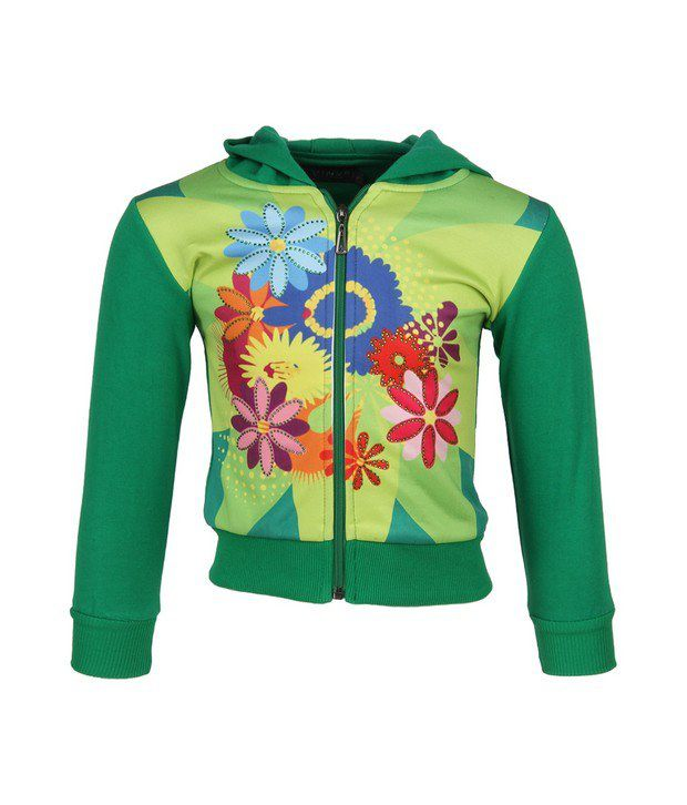 Vine Green Sweatshirt For Girls
