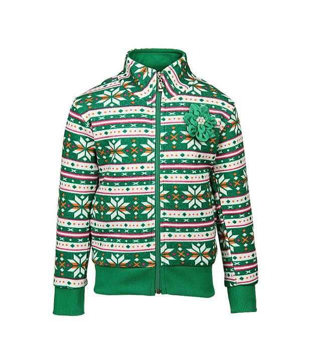 Vine Green Sweatshirt For Girls