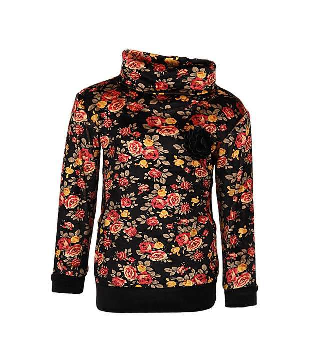 Vine Magenta Sweatshirt For Girls