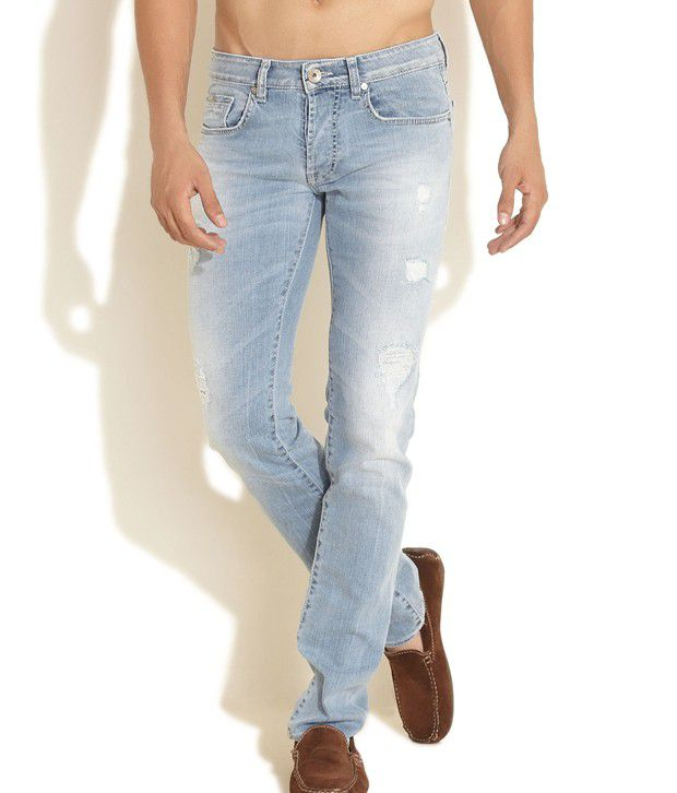 GAS Blue Slim Jeans