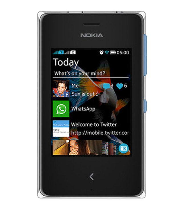 Nokia Asha 500 Cyan