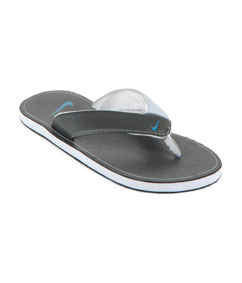 separation shoes 2a6ef 9ff22 Nike Gray Slippers & Flip Flops Price in India- Buy Nike ...