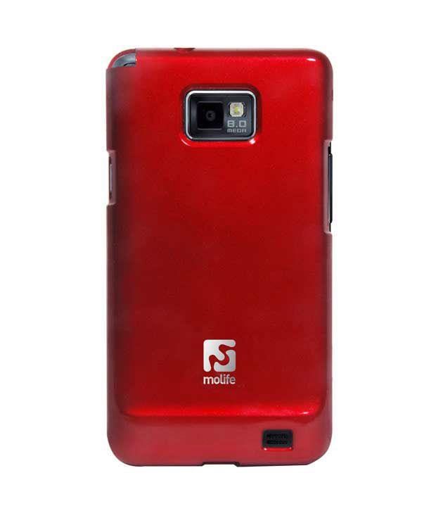 Molife Lustre Samsung Galaxy S2-Red Mobile Case (LU-RE-GA2)