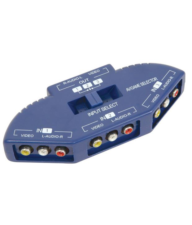 Buy 3 Way Audio Video AV splitter selector switch box Online at Best