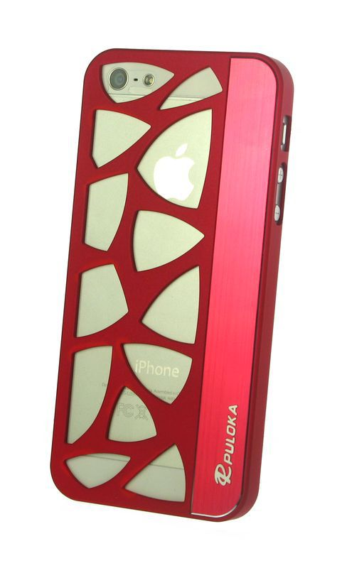 Dress My Phone Apple iPhone 5 ZigZag Designer Back Cover - Red