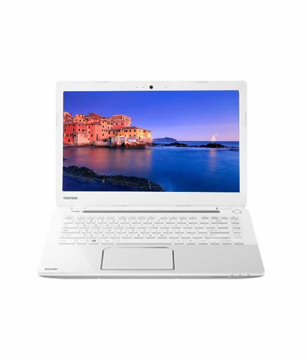 Toshiba Satellite L40-A I0110 (PSKHAG-01400M) Laptop (3rd GenCore i3-3227U- 4GB RAM- 750GB HDD- 35.56cm (14) Screen- Win 8- ) (Luxury White Pearl with stripes and Inlet Logo)