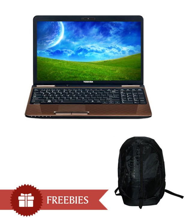 Toshiba Satellite L750-X531B Laptop (2nd Gen Ci5/ 6GB/ 750GB/ Win7 HP/ 2GB Graph) (Sparkling Maroon Brown With 3D Dots Pattern)