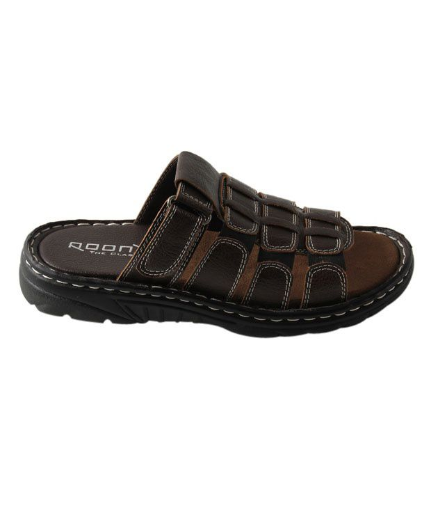 Roony Brown Slip-on Sandals