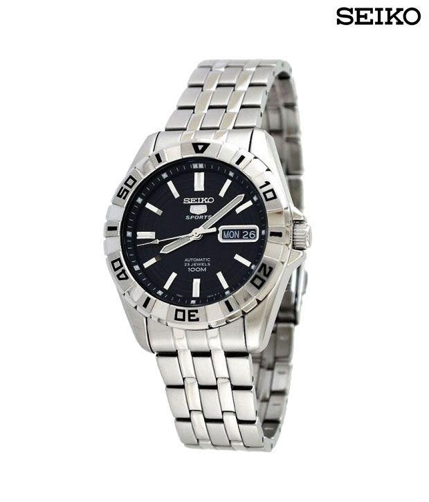 Seiko Sleek Black Dial Watch