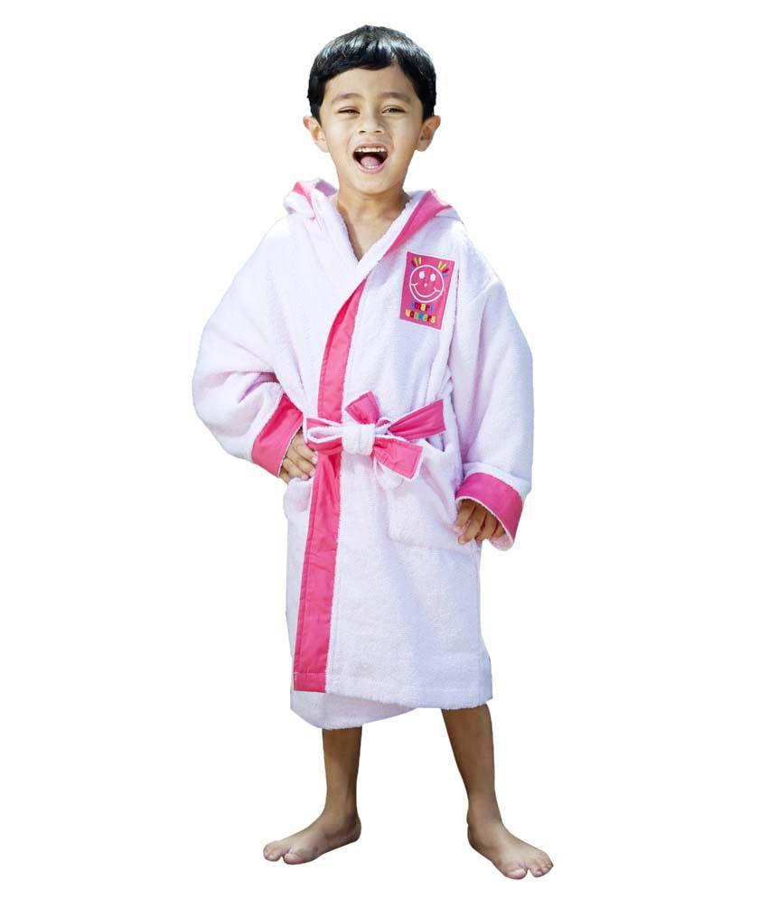Spaces Smart Wonder Pink Dk. Pink Kids Bath Robe