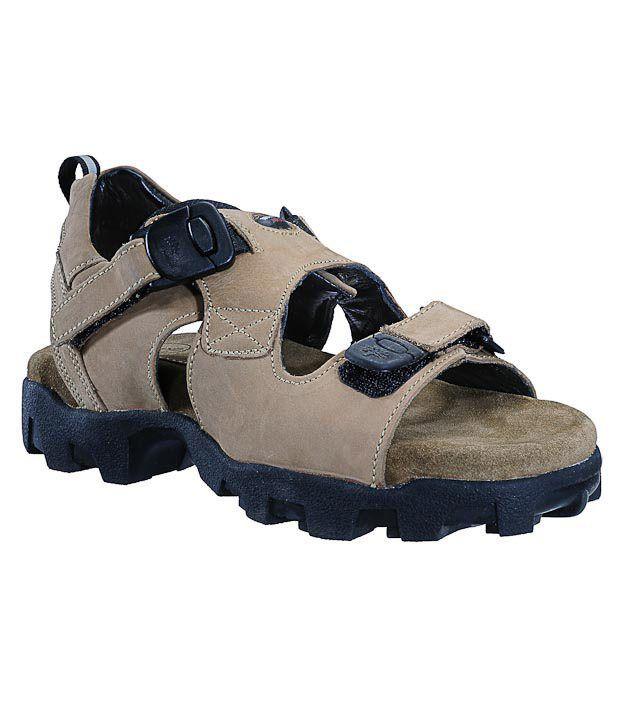 Woodland Spirited Khaki Sandals