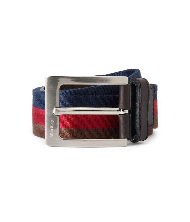Allen Solly Red Casual  Belt  ForMen