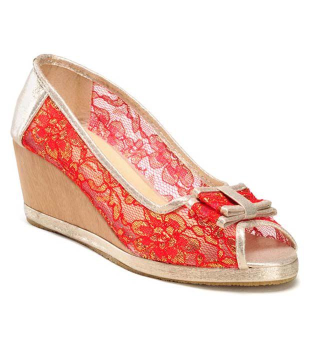 Nell Red Wedges Pumps