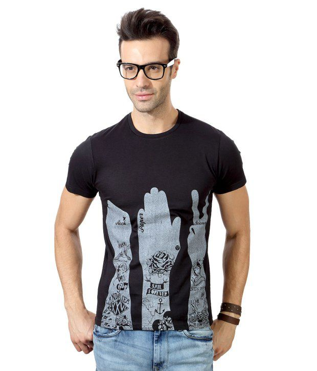 People Black Half Round  T-Shirt