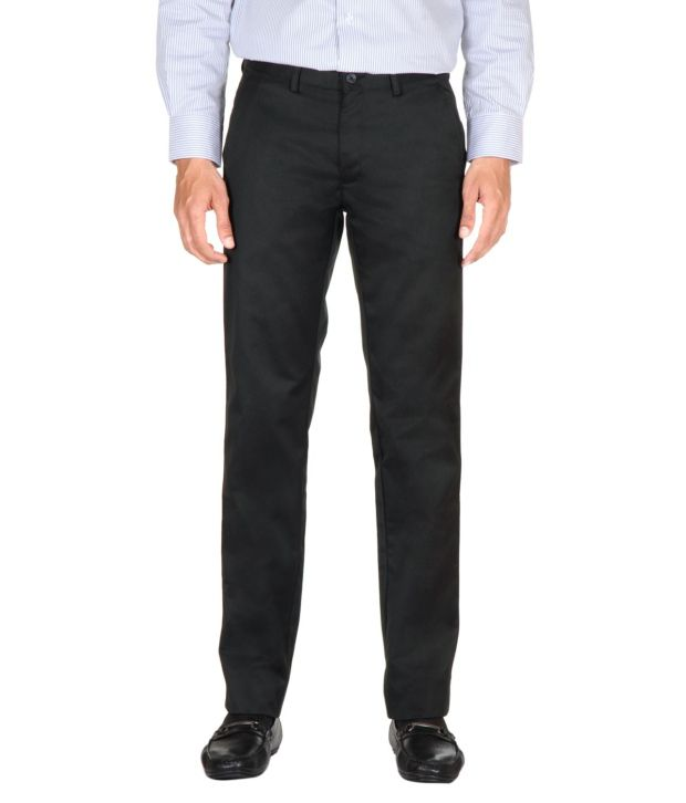 Peter England Black Regular Formals Flat