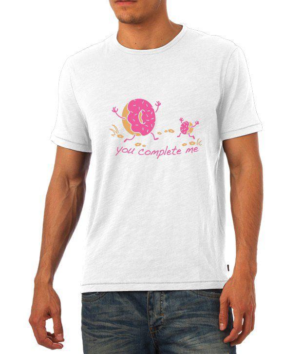 Humptee Dumptee White Half Cotton Round  T-Shirt