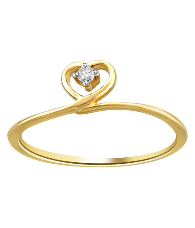 18Kt Hallmarked Gold and Certified Diamond Ring By Diti