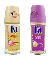 Fa Set of two (Purple Passion, Golden Star)- Roll On 50ml for women