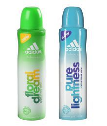 Adidas Women Deodorant (Buy 1 Get 1 Free) (Floral Dream, Pure Lightness) 150 ml Each