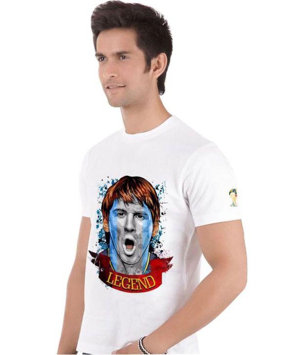 66d29f030 ... Bluegape Legend Messi Argentina Fc Barcelona Fifa World Cup 2014 T-Shirt  ...