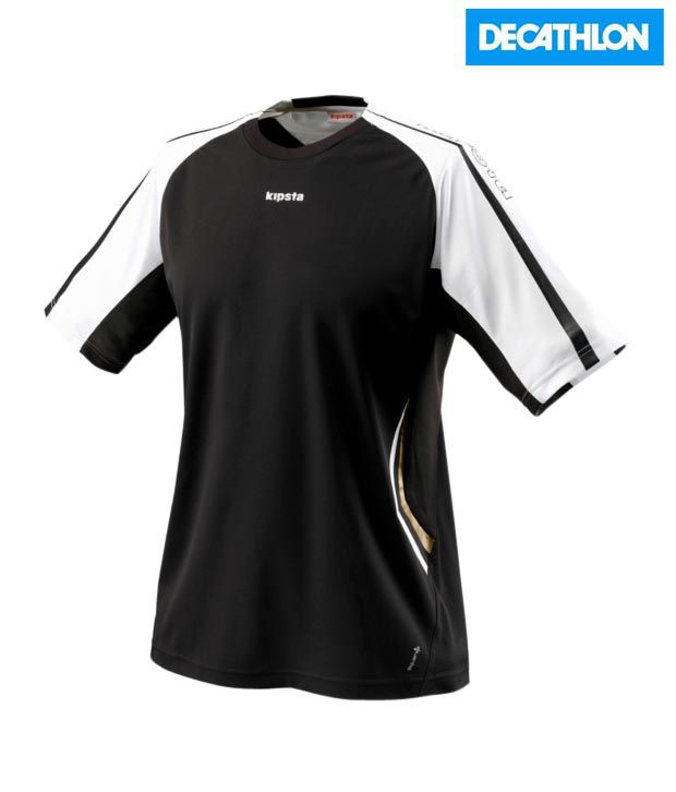 Kipsta Black Football T-Shirt F400-Bw 8083630