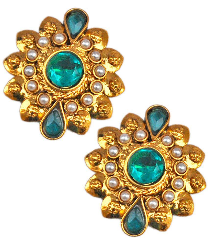 Maayra Trendy Blue Wedding Stud Earrings