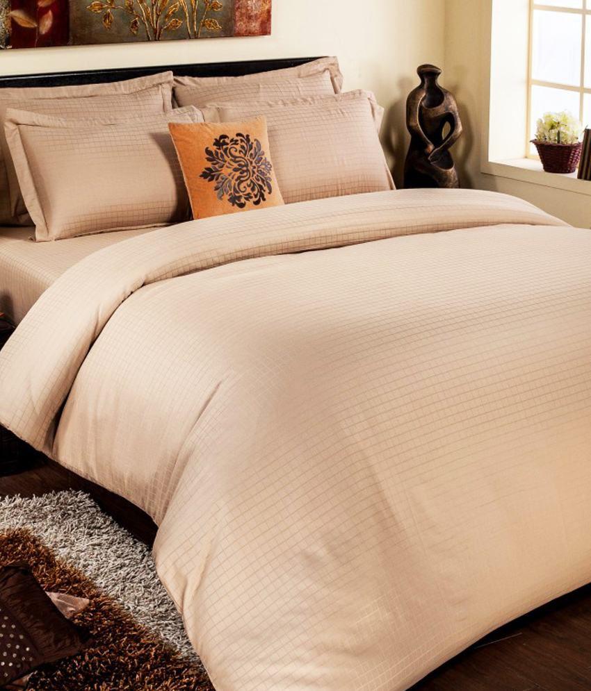 Stellar Home USA Beige Plain Satin King Size Bed Sheet ...