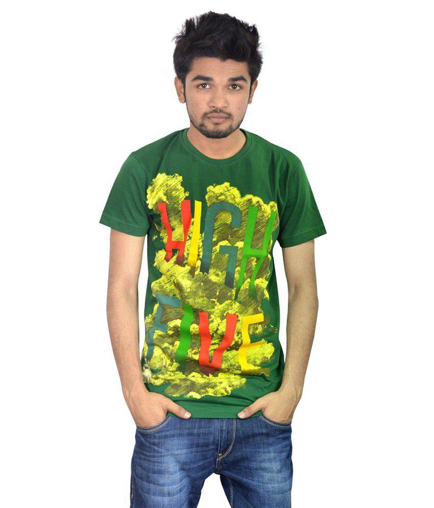 Drakeman dark green casual tees