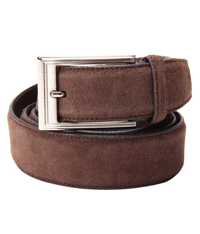 Leather Plus Brown Formal Single Belt ForMen