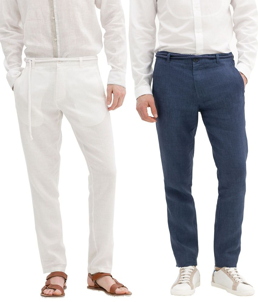 Pack of 2 Maysa Linen Trousers