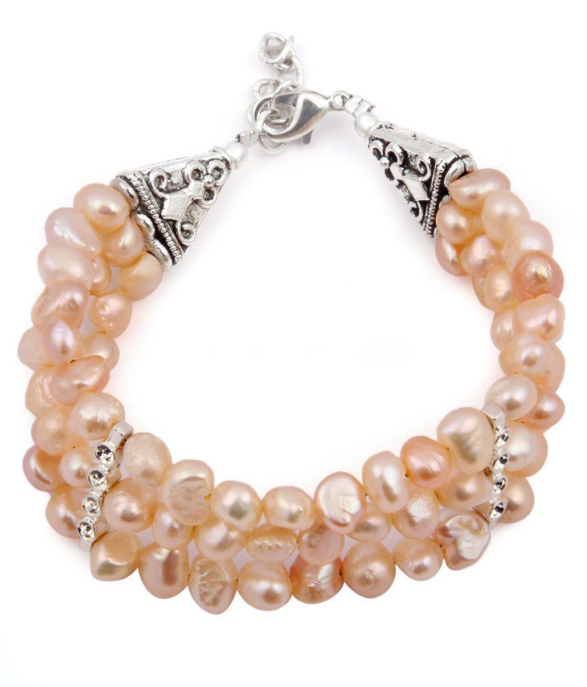 Pearlz Ocean Starry Eyed Fresh Water Pearl 7.5 Inch Bracelet