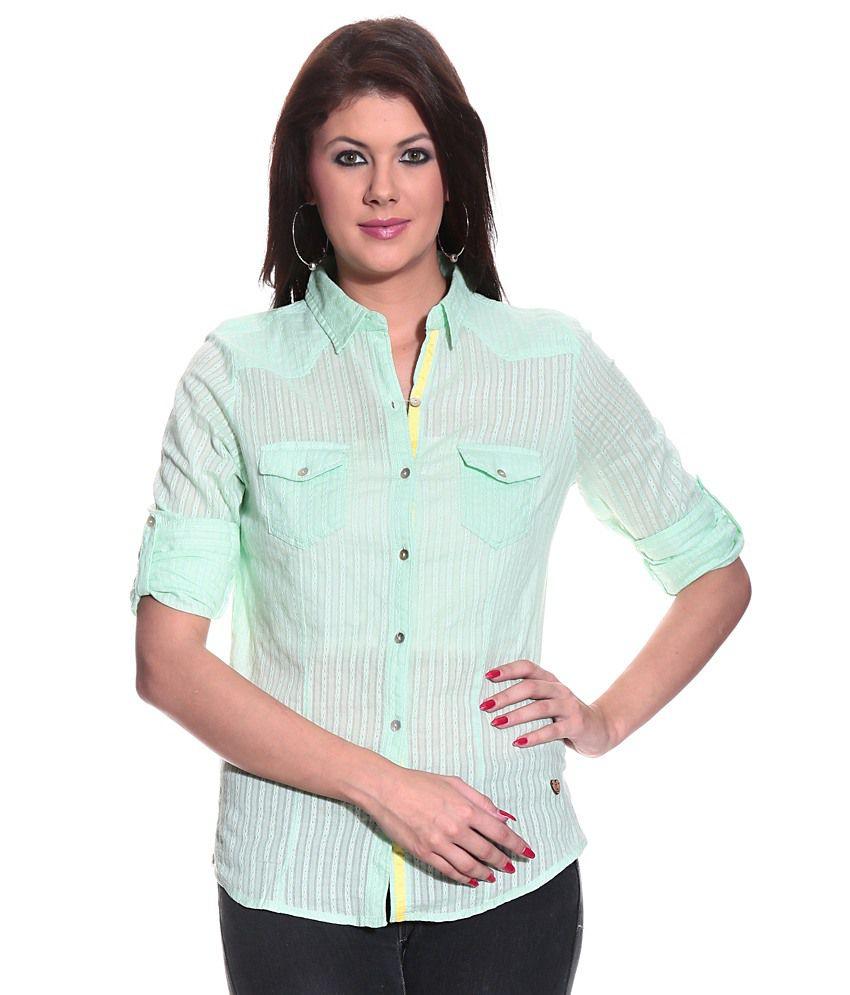 Pepe Green Cotton Shirts