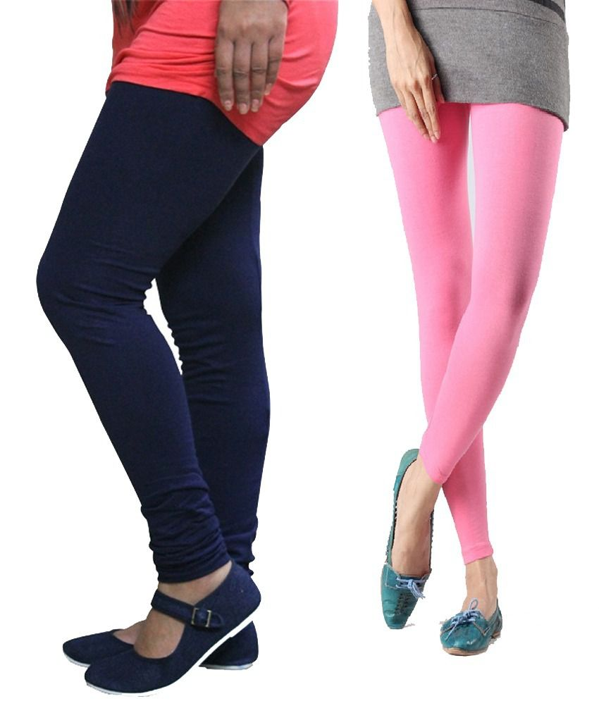 18ebd286245c1 Stylobby Navy Blue And Baby Pink Viscose Pack Of 2 Leggings Price in India  - Buy Stylobby Navy Blue And Baby Pink Viscose Pack Of 2 Leggings Online at  ...