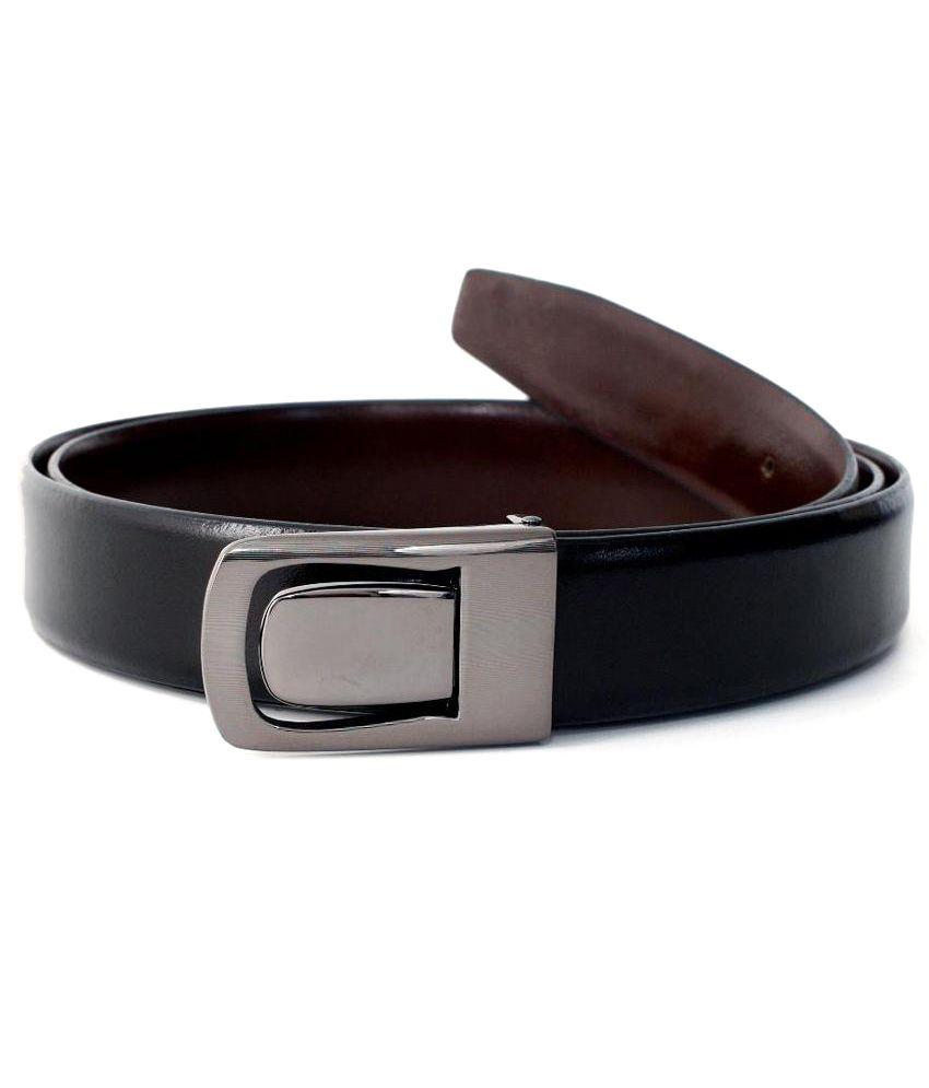 Valentino Black Formal Reversible Belt ForMen No