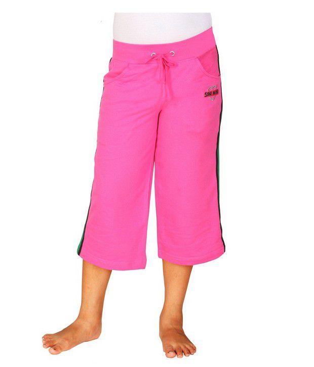 SINIMINI Pink Capris For Girls