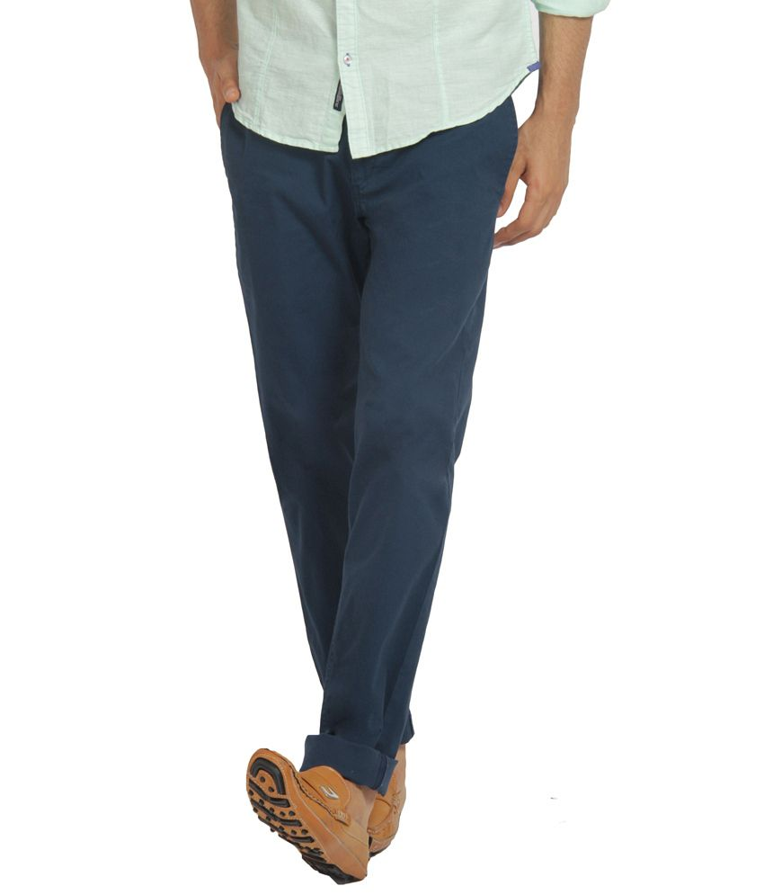 The Indian Garage Co. Blue Slim Casuals
