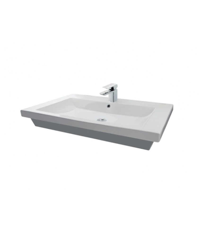 Buy Toto Self Rimming Lavatory 3 Tap Holes (LW648JT1) Online at Low ...