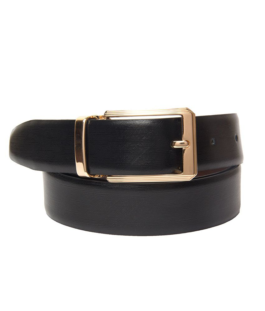 BuckleUp Reversible Belt with Golden Buckle