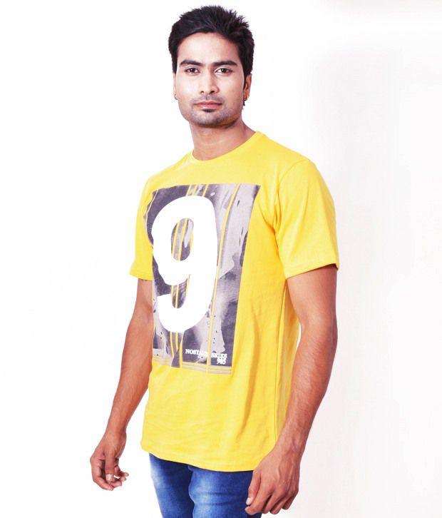 Fabulook Yellow Cotton  T-Shirt