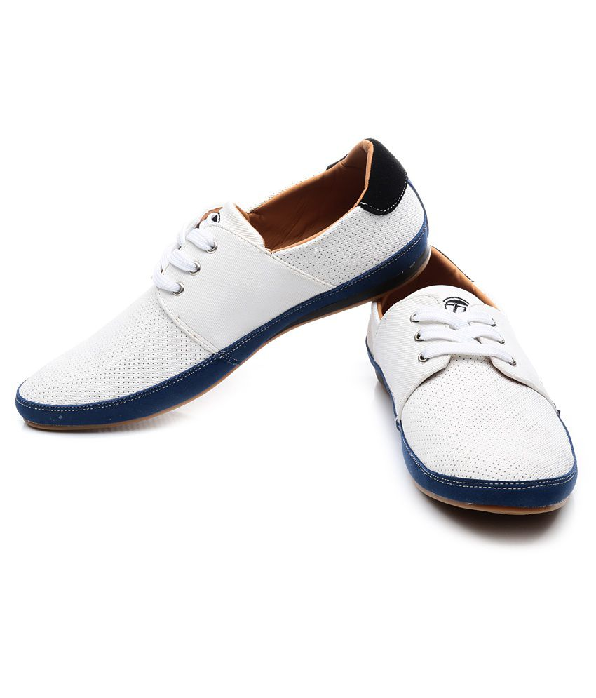 ID White Casual Shoes with Free ID Men