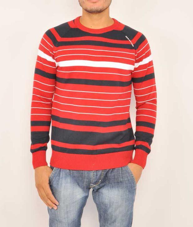 Octave Red Cotton  T-Shirt