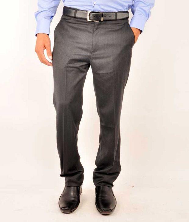 Pattern Gray Slim Semi Formals Flat