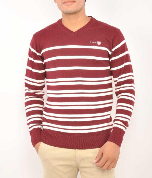 Pepe Jeans London Maroon Cotton  T-Shirt
